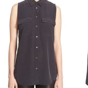 Equipment sleeveless blouse